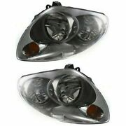 Headlight Set For 2003-2004 Infiniti G35 Sedan Left And Right Hid With Bulb 2pc