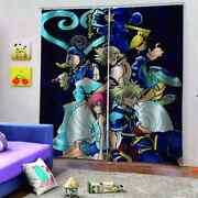 Anime Characters With Good Faces Printing 3d Blockout Curtains Fabric Window