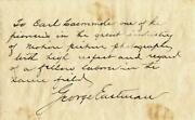 George Eastman - Autograph Letter Signed