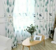 Christmas Curtain Panel Window Shades Home Decoration Treatments Tulle Sheer New
