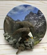 Bradford Exchange Plate Touch Down Bald Eagle Masters Of The Sky 3rd Issue 3587
