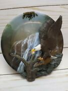 Bradford Exchange Plate Safe Haven Bald Eagle Masters Of The Sky 5th Issue 3010
