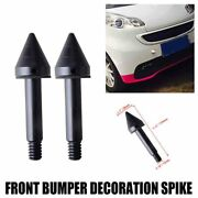 2x Black Front Bumper Protector Spikes Guard Trim For 2007-2015 Smart Fortwo