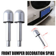 2x Silver Round Front Bumper Protector Spikes Guard For 2007-2015 Smart Fortwo