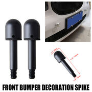 2x Black Round Front Bumper Protector Spikes Guard For 2007-2015 Smart Fortwo
