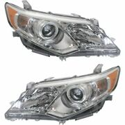 For 2012-2014 Toyota Camry Projector Headlights Headlamps Replacement Left+right