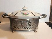 Vintage O.p. Co. Syracuse China Royal Rochester Hand Painted Serving Casserole