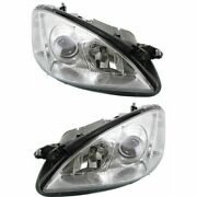 Headlight Set For 2007-2013 Mercedes Benz S550 S600 Left And Right W/ Bulb