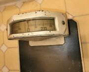 Vintage Health O Meter Art Deco Check Weight Health Scale Step On 250 Lb Weight