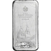 2021 St Helena Silver East India Company Andpound10 Bar Coin - 10 Oz - Bu