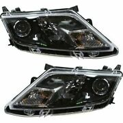 Headlight Set For 2010-2012 Ford Fusion Left And Right Black Housing Capa 2pc