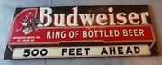 Budweiser Beer Metal Sign 72x26 Stout Sign Co. St.louis Mo Post Prohibition Era