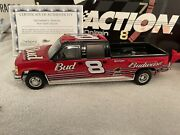 Dale Earnhardt Jr 124 Action 2002 Budweiser Crew Cab And Show Trailer.