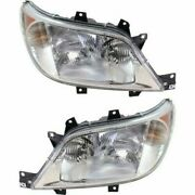 Headlight Set For 2003-2006 Freightliner Sprinter 2500 Left And Right 2pc