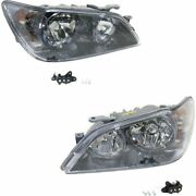 Headlight Set For 2003-2004 Lexus Is300 Left And Right Hid With Bulb 2pc