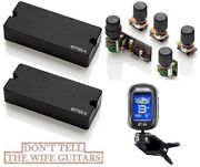 Emg 35dcx 4 String Soapbar Active Bass Pickup Set And Bqs System Preamp Tuner