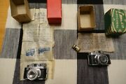 Two Miniature Hit Type Cameras Kent And Shalco In Original Boxes Instructions