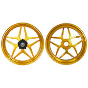 Mos Forged Aluminum Alloy Wheels Rims For Ducati Panigale V4 2018 - 2021 Gold