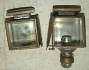 Vintage 1910and039s-20and039s Auto Car Brass Cowl Lights/lamps Electricrestoration/parts