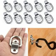 5x Cargo Lashing Surface Mount D Ring Staple Cleat Tie Down Ring Trailers D