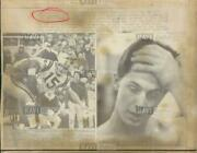 1969 Press Photo Mike Phipps Bears Browns Ohio State