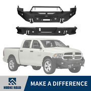 Steel Front And Rear Bumper Assembly W/ Winch Plate Fit 2009-2012 Dodge Ram 1500