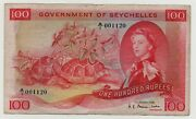 Seychelles 100 Rupees 1968 Pick 18 A Look Scans