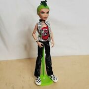 Monster High Deuce Gorgon 2008 Male Boy Doll With Shoes Stand