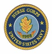 4 Navy Nurse Corps 1908 Leaf Logo Military Round Embroidered Patch