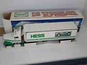Vintage 1992 Hess Truck 18 Wheeler And Racer Car - New In Box