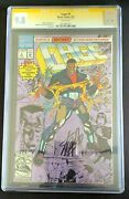 Cage 1 1992 Comic Book Cgc Signature Series 9.8 White Pages Signed By Stan Lee