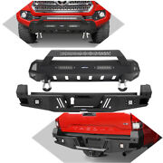 Stubby Front Rear Bumper Fit Receiver Hitches For 16-21 Toyota Tacoma 3rd Gen