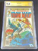 The Invincible Iron Man 124 Cgc Ss 9.8 White Pages Signed By Stan Lee 1979