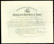 Andrew Johnson - Civil Appointment Signed 04/10/1866 With Co-signers