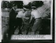 1955 Press Photo Gov.robert Meyner Of N.j Direct Pumping Operations At The State