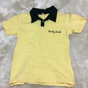 The Flat Head Bowling Polo Shirt Yellow Cotton Size 36 Used From Japan