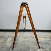 Vintage W. And L. E. Gurley Wooden Legs Brass Survey Transit Tripod - 50 Tall