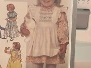 Simplicity Sewing Pattern Toddler Pullover Dress And Pinafore Smocking Sz. 3