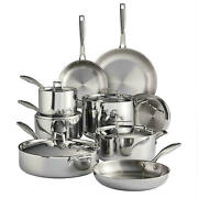 Tramontina Tri-ply Clad 14-piece Stainless Steel Cookware Set Best Price