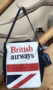 Vintage British Airways Crew Carry On Bag With Concorde Luggage Id Tag - Props