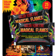 Magical Flames Create Colorful And Vibrant Flames For Fire Pit - 25 Pack
