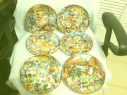The Franklin Mint Gold Medal Flour Kitty Cat Plates By Bill Bell Set Of 6