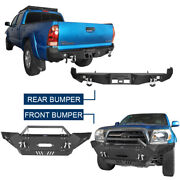 Steel Front Rear Bumpers W/license Plate Led Light Fit 2005-2015 Tacoma Gen