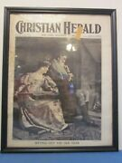 December 30, 1908 Christian Herald Newspaper Sitting Out The Old Year - Framed