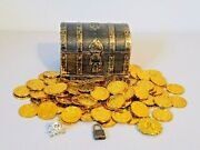 Pirates Of The Caribbean Dead Mans Chest Plastic Gold Coins Medallion Skull Ring