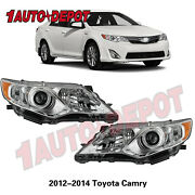 For 2012 2013 2014 Toyota Camry Projector Headlights Headlamps Left+right