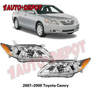 For 2007 2008 2009 Toyota Camry Us Models Projector Headlights Left And Right Pair