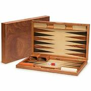 Yellow Mountain Imports Wooden Inlaid Rosewood Backgammon Game Set - Knoll - Wit