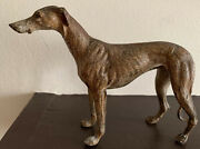 Antique Cold Painted Vienna Bronze Whippet Greyhound Dog Signed