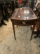 Councill Furniture Inlaid Mahogany Drop Leaf Pembroke Side Table Preowned